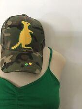 Brand New Camouflage Jamaican  Baseball Cap. Kangaroo style With Rhinestone.