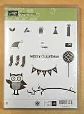 Stampin Up OWL OCCASIONS cling rubber stamps, party, Christmas