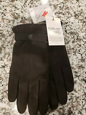 BARBOUR Men's Leather THINSULATE Gloves in BLACK MSRP $99