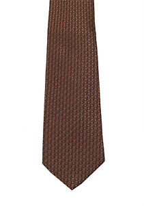 New Gucci Brown Patterned Tie