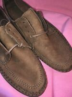 Dexter 7M Brown Suede Lace Leather Shoes Stitch NWOB