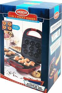 American Originals 600W Non-Stick 3 in 1 Treat Maker Cake Pops Donuts Waffles