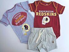 New Baby Gap Shorts Washington Redskins Romper Bodysuit Nfl Sports Boys 0-3m 3m