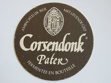 Beer Coaster: Corsendonk Pater - Abbey Dubbel -Turnhout Belgium Brewing Company