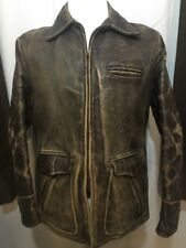 Sportclad Vintage Brown Horsehide Leather 50's Motorcycle Jacket Mens Medium