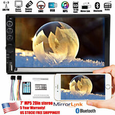 Mirrorlink For GPS Map Double 2Din 7inch Car Stereo Touch Screen Radio Bluetooth