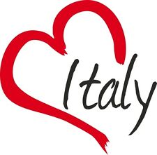 Auto Aufkleber ITALY Sticker Italien ca.9x19cm konturgeschnitten