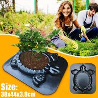 Turtle Stone Plant Flowers Mold Concrete Cement Mould Tortoise Garden DIY Maker