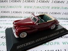 Coche 1/43 IXO altaya Coches de antaño : HOTCHKISS Anthéor cabriolet 1953
