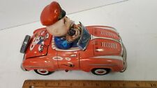 1950's SMOKY JOE -  Battery Car w/ Pipe Smoking Driver -  Very Good Condition