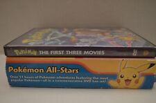 Pokemon All-Stars 10-DVD Set & Pokemon First Three Movies 2 DVDs