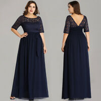 Ever-Pretty US Plus Size Mother of the Bride Dress Lace A-line Cocktail Gowns