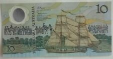 1988 AUSTRALIA 10 DOLLAR BILL AA SERIAL Number, COMMEMORATIVE  SUPERB UNC