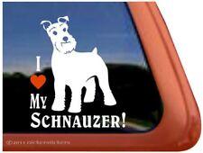 I Love My Schnauzer | High Quality Vinyl Dog Window Decal Sticker