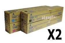 2 Sets Lot of 8 OEM Konica Minolta TN512 CMYK Toner for C454 C454e C554 C554e