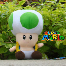 Nintendo Super Mario Bros Runing Game Plush Toy Green Toad Stuffed Animal 6.5""