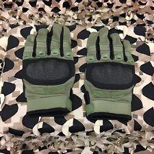New Valken Zulu Full Finger Tactical Paintball Gloves - Olive - Medium