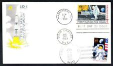 FIRST MAN ON THE MOON Stamps C76 2841 DUAL FDC Space Cover (1989)