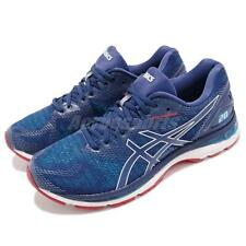 Asics Gel-Nimbus 20 Blue White Red Men Running Training Shoes Sneakers T800-N400