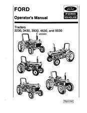 Ford 3230 3430 3930 4630 Amp 5030 Tractor Operator Instruction Maintenance Manu