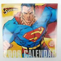 Brand New Sealed 2006 Jim Lee Superman Calendar w/ Centerfold DC Comics Art
