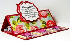 Sizzix Framelits Regal Stand-Ups Card 22pc set #659211 MSRP $39.99 by S.Barnard