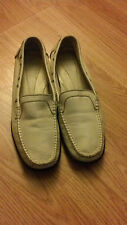 Rockport Off White Textured Leather Moccasins Flats Loafers Womens 9M
