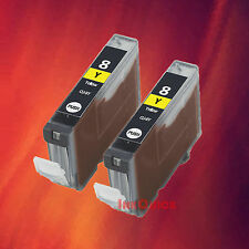 2 CLI-8 8Y YELLOW INK FOR CANON iP3300 iP4200 iP5300
