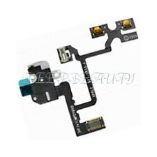 New Headphone Audio Jack Volume Flex Cable Replacement Parts For iPhone 4 4G BK