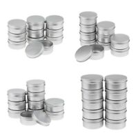 40 Pcs/Pack Empty Cosmetic Pot Tin Silver Container w/Screw lid Jar 150ml+50ml