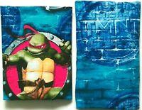 Two (2) TEENAGE MUTANT NINJA TURTLES Twin Bedsheets Fitted & Flat TMNT Crafts