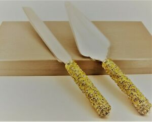 Ciel Collectables Jeweled Cake Server Set. Hand Crafted with Swarovski Crystals