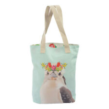 NEW Cotton Ladies Canvas Shopping Beach Tote Bag Australian Kookaburra