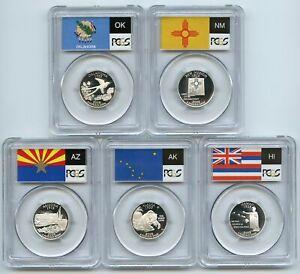 2008 S Silver State Quarter Set PCGS PR69DCAM