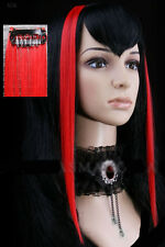 Extension cheveux à clipper clips paire gothique cyber punk lolita fashion Rouge