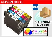 4 Cartucce compatibili 603xl EPSON XP2100 XP2105 XP3100 XP3105 XP4100 XP4105