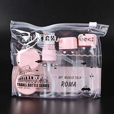 7Pcs/set Mini Travel Kunststoff Transparent Empty Makeup Container Bottle Neu