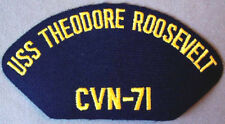 US Navy USS Theodore Roosevelt CVN - 71 Cap Patch
