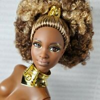 (B23) ~ NUDE BARBIE GOLD LABEL STAR WARS MODEL MUSE C3P0 AA MBILI DOLL FOR OOAK