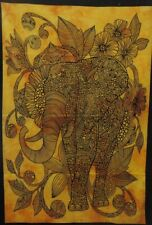 Yellow Elephant Wall Hanging Dorm Decor Bohemian Hippie Poster Tapestry Ethnic
