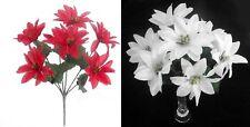 Flores secas y artificiales decorativas de color principal rojo de plástico para el hogar