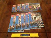 9x LOT LEGO SPIDER-MAN INSTRUCTION MANUALS ONLY 4852 & 4856 DOC OCK SPIDERMAN