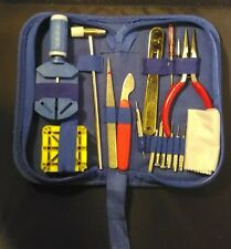 Watch Repair Kit 17 Pieces New plus Case and Repair Guide