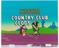 Flintstones Comedy Show (1980) Title Card Cel Frankenstein golf animation art