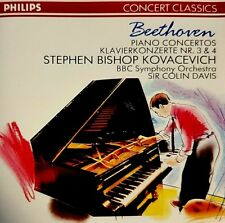 "STEPHEN KOVACEVICH - Beethoven: Piano Concertos 3 & 4 CD / ""Sir Colin Davis"""