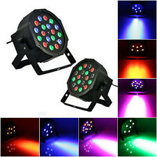 2Pcs 54W RGB LED Stage Lighting Projector Party Club DJ Disco Light DMX512 Sound