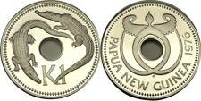 elf Papua New Guinea 1 Kina 1978 FM Proof Crocodiles only 5,540 minted