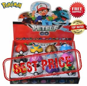 12 Pcs/ Set Pokemon Pocket Monster Pikachu Action Figure Elf Poke Ball Pop Up