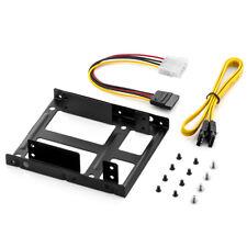 """DUAL Einbaurahmen SET für 2x 2,5"""" Festplatten SSD auf 3,5"""" - 6x 3,5 Bohrlöcher"""