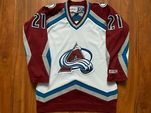 COLORADO AVALANCHE ICE HOCKEY JERSEY RARE MENS NHL SIZE S #21 FORSBERG
